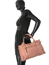 Shopping Bag Classic Leather Basilic pepper Pink classic BCLA02-vue-porte