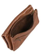 Wallet Leather Basilic pepper Brown classic BCLA91-vue-porte