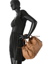 Sac Shopping 24h Gd Cuir Gerard darel Marron gd DFS03410-vue-porte