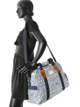Sac De Voyage Cabine Luggage Roxy Bleu luggage RJBP3652-vue-porte