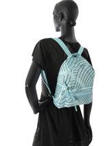 Longchamp Sac à dos Bleu-vue-porte