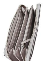 Wallet Leather Michael kors Gray money pieces T7STVZ3L-vue-porte