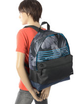 Sac à Dos 1 Compartiment Quiksilver Noir youth access QYBP3406-vue-porte
