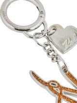 Porte-clefs Karl lagerfeld Jaune key chains 81KW3811-vue-porte
