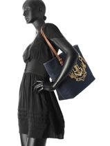 Shopping Bag A4 Seabrook Lauren ralph lauren Blue seabrook 31687514-vue-porte
