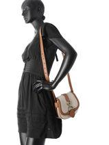 Shoulder Bag Barrington Lauren ralph lauren Beige barrington 31686738-vue-porte