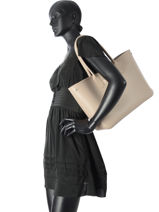 Longchamp Roseau Besaces Beige-vue-porte