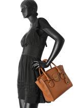 Top Handle Millbrook Leather Lauren ralph lauren Beige millbrook 31692828-vue-porte
