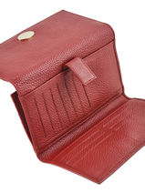 Continental Wallet Leather Mac douglas Red vanta GONVET-vue-porte