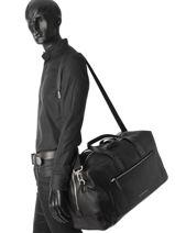 Travel Bag Soft Leahter Tommy hilfiger Black soft leahter AM03105-vue-porte