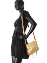 Sac Bandoulière Vintage Cuir Mila louise Marron vintage 3017S-vue-porte