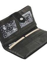 Continental Wallet Leather Mila louise Black vintage 3229CS-vue-porte