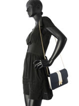 Sac Bandoulière Th Heritage Tote Tommy hilfiger Bleu th heritage tote AW05411-vue-porte