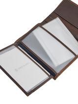 Wallet Leather Serge blanco Brown cap horn CAH21010-vue-porte