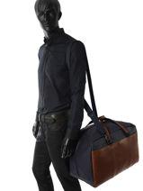 Travel Bag Contraste Foures Brown contraste C908-vue-porte