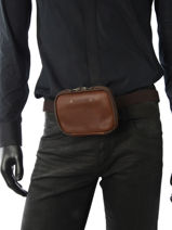Fanny Pack Foures Brown 9321-vue-porte