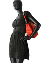 Bucket Bag Vesuvio Leather Mac douglas Red vesuvio MEGVES-S-vue-porte