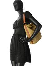 Shoulder Bag Agnes Miniprix Yellow agnes 88401-vue-porte