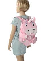 Backpack Affenzahn Pink large friends AFZ-FAL2-vue-porte