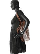 Shoulder Bag Filet Filt Brown filet 220-vue-porte