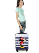 Cabin Luggage American tourister Multicolor legends disney 19C019-vue-porte