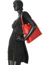 Hobo Bag Lex Leather Michael kors Red lex H7GZ9H2L-vue-porte