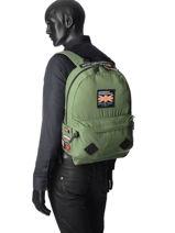 Sac à Dos 1 Compartiment Superdry Vert backpack men M91003JQ-vue-porte