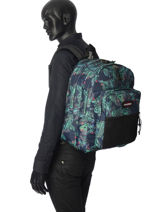 Backpack 2 Compartments Eastpak Green k060-vue-porte