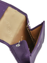 Key Holder Leather Katana Violet daisy 553025-vue-porte