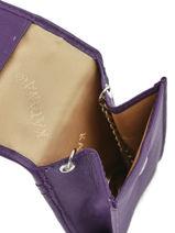 Porte-clefs Cuir Katana Violet daisy 553025-vue-porte