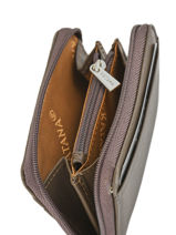 Purse Zippered Leather Katana Brown daisy 553042-vue-porte