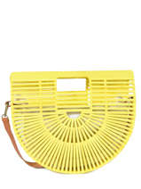 Handbag Bambou Miniprix Yellow bambou 590