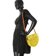 Handbag Bambou Miniprix Yellow bambou 590-vue-porte