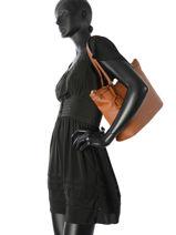 Shoulder Bag Etrier Brown tradition EHER020-vue-porte