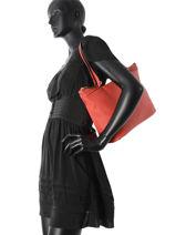 Shoulder Bag Etrier Pink tradition EHER020-vue-porte