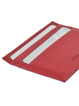 Porte-cartes Cuir Francinel Rouge venise lisse 37902-vue-porte