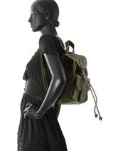 Backpack Le Baroudeur Paul marius Green vintage BAROUDEU-vue-porte