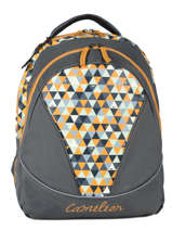 Backpack 2 Compartments Cameleon Yellow new basic NBA-BOR