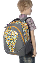 Backpack 2 Compartments Cameleon Yellow new basic NBA-BOR-vue-porte