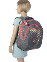 Backpack 2 Compartments Cameleon Pink new basic NBA-BOR-vue-porte