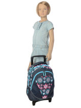 Wheeled Backpack For Kids 2 Compartments Cameleon Pink new basic NBA-BORR-vue-porte