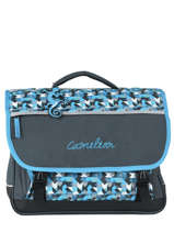 Satchel 3 Compartments Cameleon Blue new basic NBA-CA41