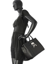 Top Handle K Ikonic Leather Karl lagerfeld Black k ikonic 86KW3083-vue-porte