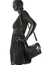 Shoulder Bag K Ikonik Leather Karl lagerfeld Black k ikonic 86KW3084-vue-porte