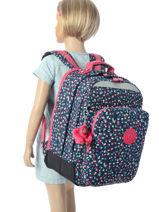 Backpack 2 Compartments Kipling Multicolor back to school / pbg PBG06666-vue-porte