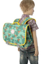 Satchel Jp by jeune premier Green jp bags PAL18-vue-porte