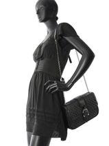 Longchamp Amazone matelassÉ Besaces Noir-vue-porte