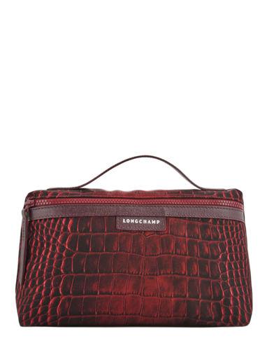 Longchamp Le pliage croco Pochettes Rouge