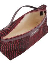 Longchamp Le pliage croco Pochettes Rouge-vue-porte