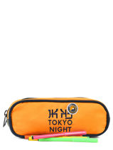 Kit 2 Compartments Ikks Yellow backpacker in tokyo 18-12836-vue-porte